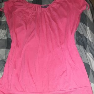 Torrid Hot Pink Cold Shoulder Cap Tee Sz.3X EUC🐾